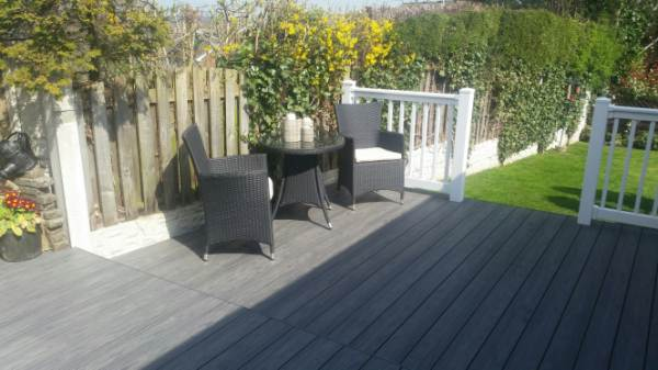 pvc decking with steps balustrade