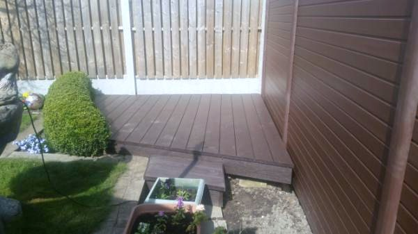 decking and fencing  sheffield walnut