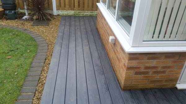 decking around conservatory