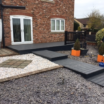 grey pvc composite decking