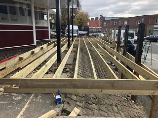 Pub Decking Leeds Installation Process
