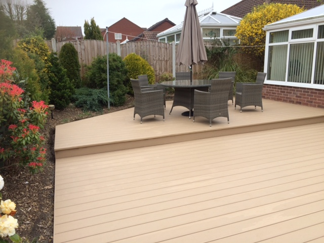 oak decking in Leeds PVC
