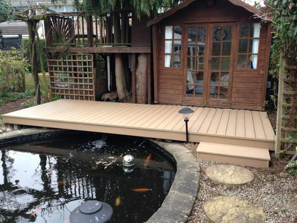 oak decking york pond