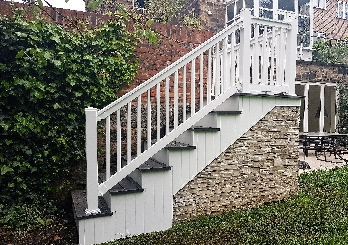 steps decking balustrading