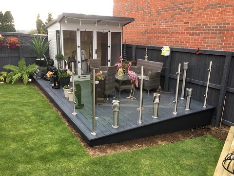glass balustrades composite deck