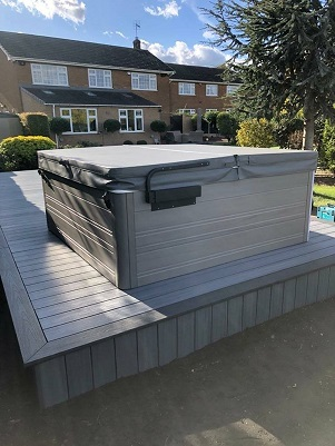 hot tub decking picture