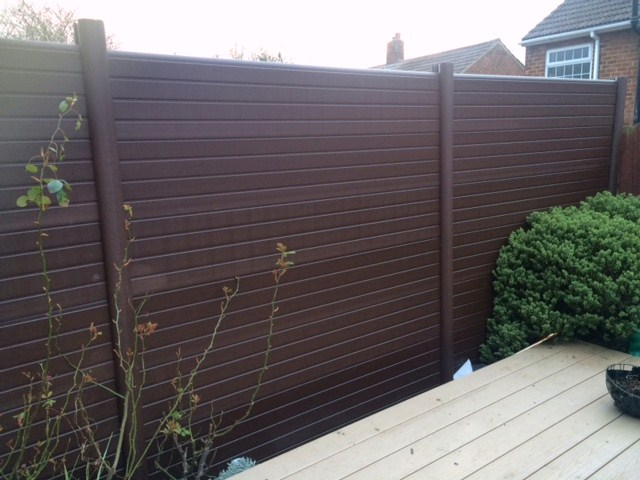 pvc fencing walnut